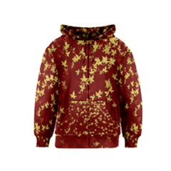 Background Design Leaves Pattern Kids  Zipper Hoodie