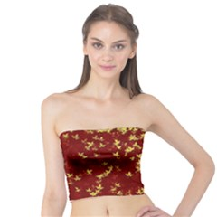 Background Design Leaves Pattern Tube Top