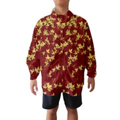 Background Design Leaves Pattern Wind Breaker (kids)