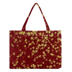 Background Design Leaves Pattern Medium Tote Bag