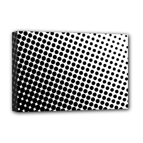 Background Wallpaper Texture Lines Dot Dots Black White Deluxe Canvas 18  X 12