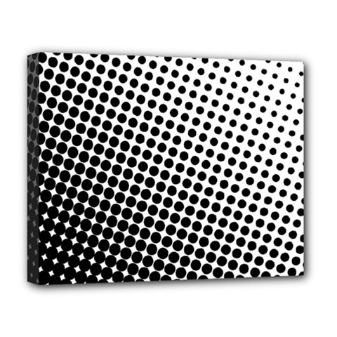 Background Wallpaper Texture Lines Dot Dots Black White Deluxe Canvas 20  X 16