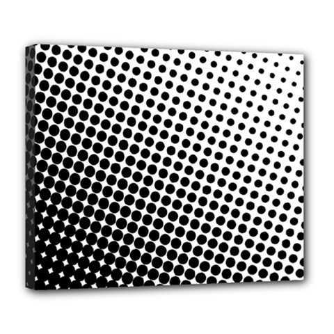 Background Wallpaper Texture Lines Dot Dots Black White Deluxe Canvas 24  X 20