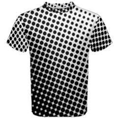 Background Wallpaper Texture Lines Dot Dots Black White Men s Cotton Tee