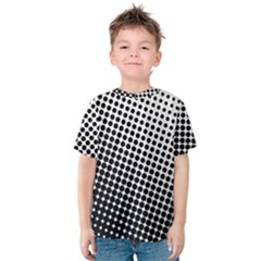 Background Wallpaper Texture Lines Dot Dots Black White Kids  Cotton Tee