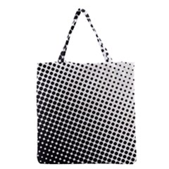 Background Wallpaper Texture Lines Dot Dots Black White Grocery Tote Bag