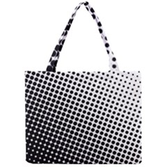 Background Wallpaper Texture Lines Dot Dots Black White Mini Tote Bag