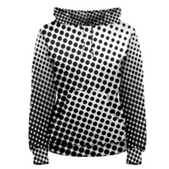 Background Wallpaper Texture Lines Dot Dots Black White Women s Pullover Hoodie