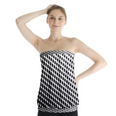 Background Wallpaper Texture Lines Dot Dots Black White Strapless Top