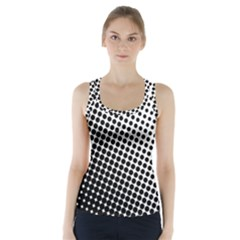 Background Wallpaper Texture Lines Dot Dots Black White Racer Back Sports Top