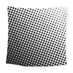 Background Wallpaper Texture Lines Dot Dots Black White Square Tapestry (large)