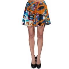 Background Graffiti Grunge Skater Skirt
