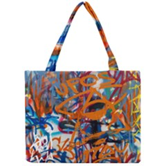 Background Graffiti Grunge Mini Tote Bag