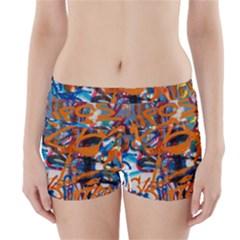 Background Graffiti Grunge Boyleg Bikini Wrap Bottoms