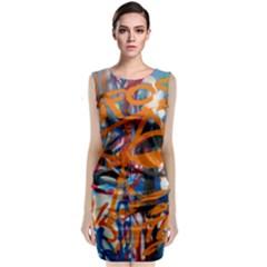 Background Graffiti Grunge Classic Sleeveless Midi Dress