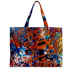 Background Graffiti Grunge Medium Tote Bag