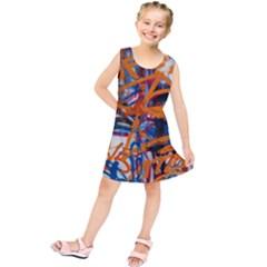 Background Graffiti Grunge Kids  Tunic Dress