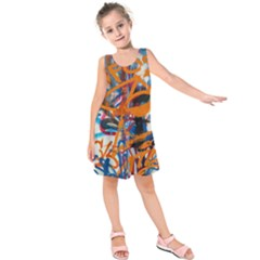 Background Graffiti Grunge Kids  Sleeveless Dress