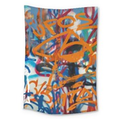 Background Graffiti Grunge Large Tapestry