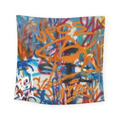 Background Graffiti Grunge Square Tapestry (small)