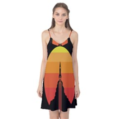 Plane Rocket Fly Yellow Orange Space Galaxy Camis Nightgown