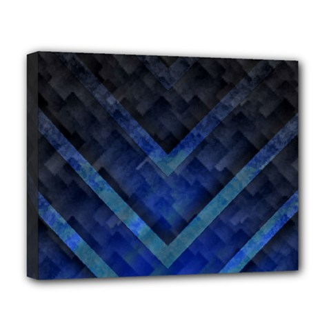 Blue Background Wallpaper Motif Design Deluxe Canvas 20  X 16