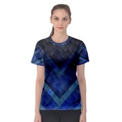 Blue Background Wallpaper Motif Design Women s Sport Mesh Tee
