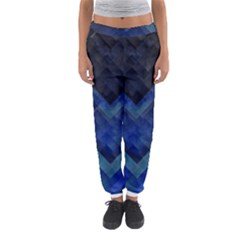 Blue Background Wallpaper Motif Design Women s Jogger Sweatpants