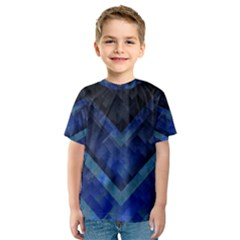 Blue Background Wallpaper Motif Design Kids  Sport Mesh Tee