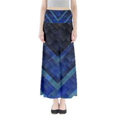 Blue Background Wallpaper Motif Design Maxi Skirts