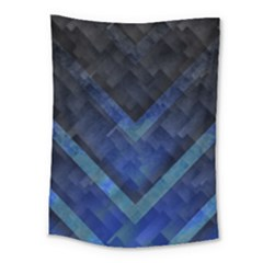Blue Background Wallpaper Motif Design Medium Tapestry
