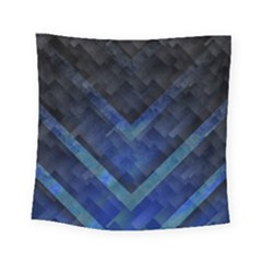 Blue Background Wallpaper Motif Design Square Tapestry (small)