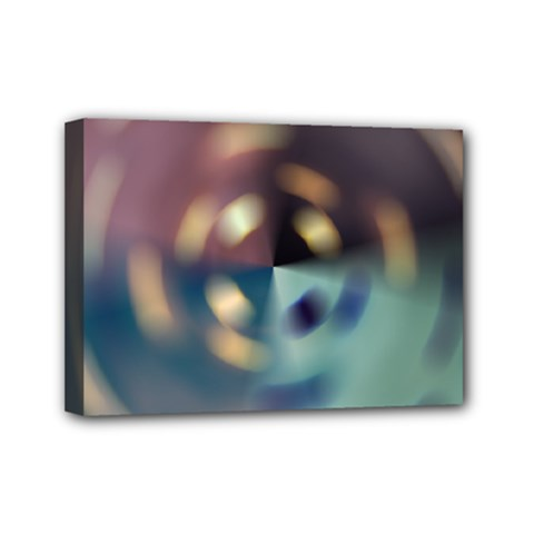 Blur Bokeh Colors Points Lights Mini Canvas 7  X 5