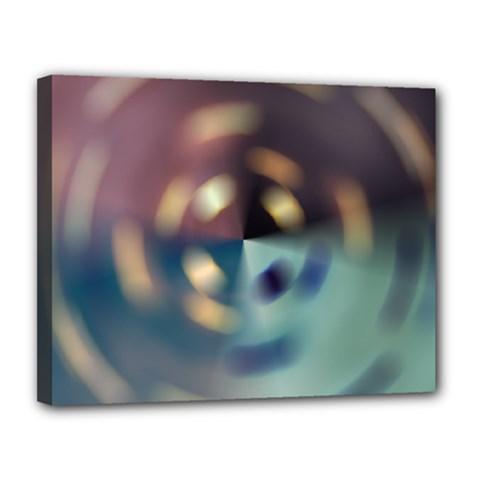 Blur Bokeh Colors Points Lights Canvas 14  X 11