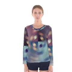 Blur Bokeh Colors Points Lights Women s Long Sleeve Tee