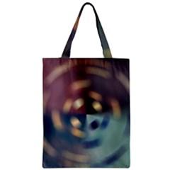 Blur Bokeh Colors Points Lights Zipper Classic Tote Bag