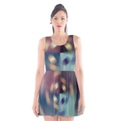 Blur Bokeh Colors Points Lights Scoop Neck Skater Dress