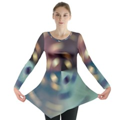 Blur Bokeh Colors Points Lights Long Sleeve Tunic