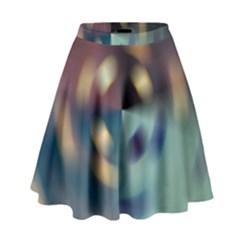 Blur Bokeh Colors Points Lights High Waist Skirt