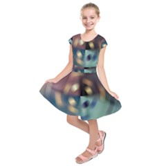 Blur Bokeh Colors Points Lights Kids  Short Sleeve Dress
