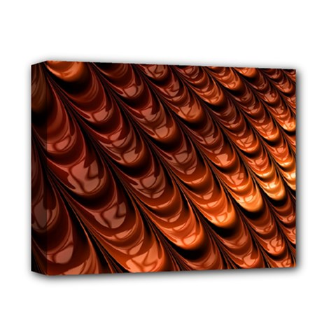 Brown Fractal Mathematics Frax Deluxe Canvas 14  X 11