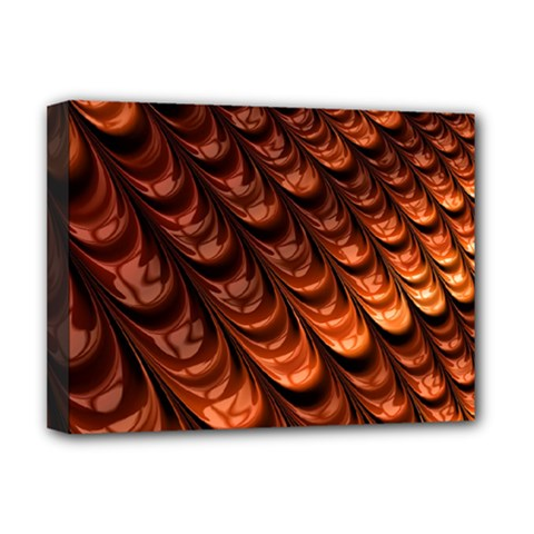 Brown Fractal Mathematics Frax Deluxe Canvas 16  X 12