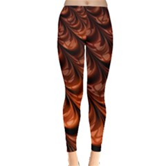 Brown Fractal Mathematics Frax Leggings