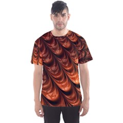 Brown Fractal Mathematics Frax Men s Sport Mesh Tee
