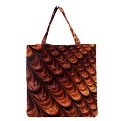Brown Fractal Mathematics Frax Grocery Tote Bag