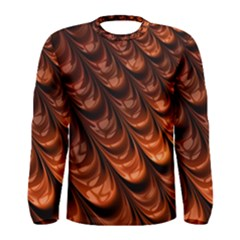 Brown Fractal Mathematics Frax Men s Long Sleeve Tee