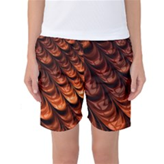 Brown Fractal Mathematics Frax Women s Basketball Shorts