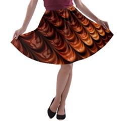 Brown Fractal Mathematics Frax A Line Skater Skirt