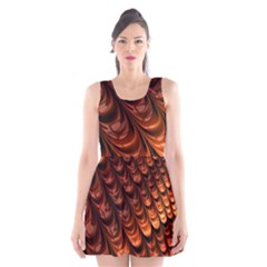 Brown Fractal Mathematics Frax Scoop Neck Skater Dress