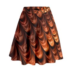 Brown Fractal Mathematics Frax High Waist Skirt